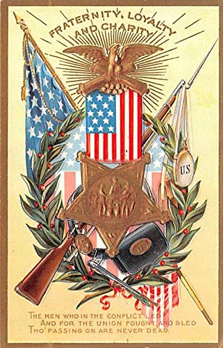 (Patriotic Post Card Old Vintage Antique Postcard Fraternity, Loyalty, and Charity, Decoration Day Series Unused)