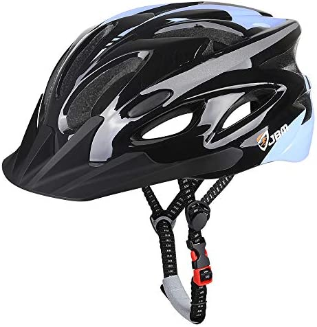 JBM Adult Cycling Bike Helmet Specialized for Men Women Safety Protection CPSC Certified 18 Colors Black Red Blue Pink Silver Adjustable Lightweight Helmet Black New , Adult