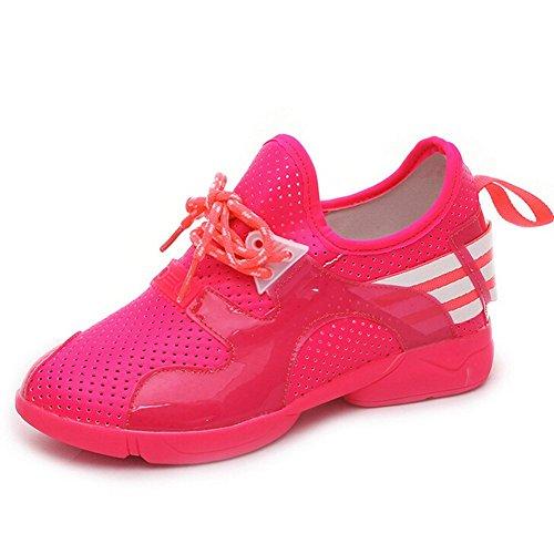Angelliu Vrouwen Meisjes Casual Ademend Zomer Lente Gaten Met Sportschoenen Sneakers Rose