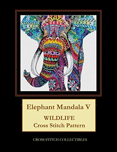 - Elephant Mandala V: Wildlife Cross Stitch Pattern