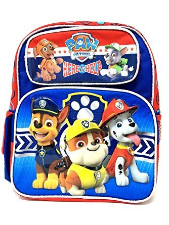 Nickelodeon Boy's Paw Patrol 12'' Inches Backpack Brand New - Licensed Product by Ruz