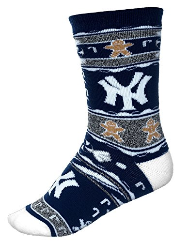 [For Bare Feet New York Yankees Ugly Christmas Xmas Holiday Sports Socks] (Florida Themed Costumes)