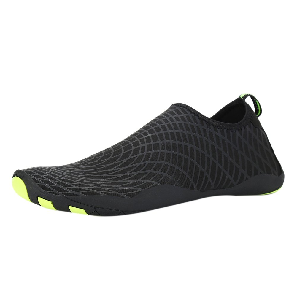 Bornbayb Men Summer Outdoor Sneakers Beach River Bathing Rubber Swimming Non-slip Surfing Water Shoes B07BXB4W1R US: 8.5-9.5 Black Yellow