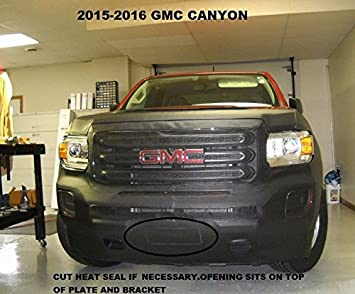 without fender flares Lebra 2 piece Front End Cover Black Car Mask Bra Fits 2015-2017 15-17 GMC Canyon