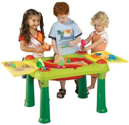 Keter 17184058 - Mesa de juegos infantil con compartimentos para agua y arena , color/modelo surtido