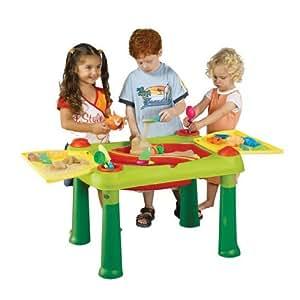 Keter 17184058 - Mesa de juegos infantil con compartimentos para agua y arena