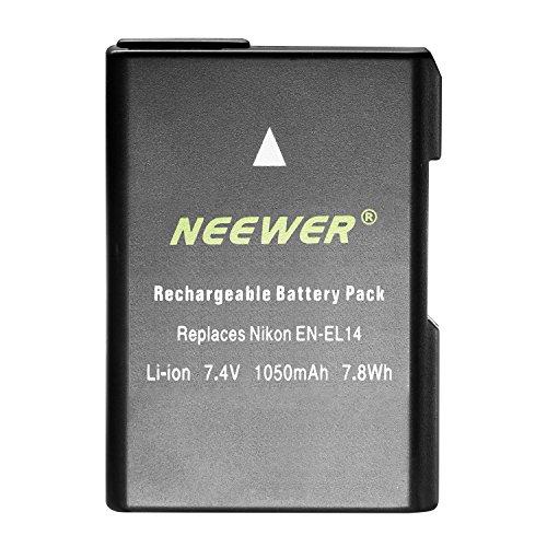 Neewer EN-EL14 EN-EL14A Li-ion Battery Replacement for Nikon D3100 D3200 D3300 D5100 D5200 D5300 D5500 DF P7000 P7100 P7200 P7700 P7800 Digital Cameras