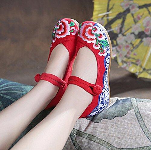 femme Taille Sandales unique pour Lazutom Multicolore multicolore red gHC76zwqF