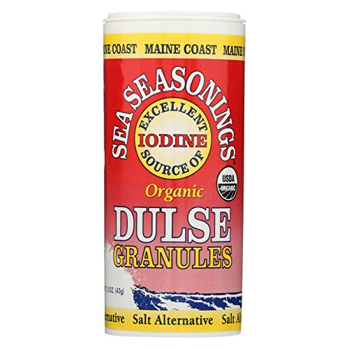 Maine Coast Organic Sea Seasonings - Dulse Granules - 1.5 oz Shaker - Case of 3