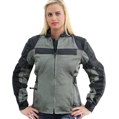 Mesh Tex Jacket Leather (Xelement All Season Womens Grey/Black Tri-Tex/Mesh Jacket - 3X-Large)
