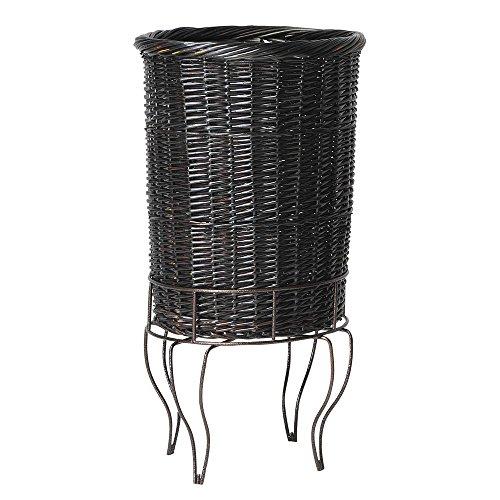 Mobile Merchandisers Antique Bronze Wire Wicker Pedestal Basket Set - 18