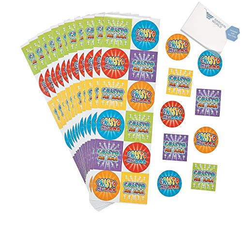 Bargain World Paper Spanish Jesus Loves Me Stickers (With Sticky Notes) -