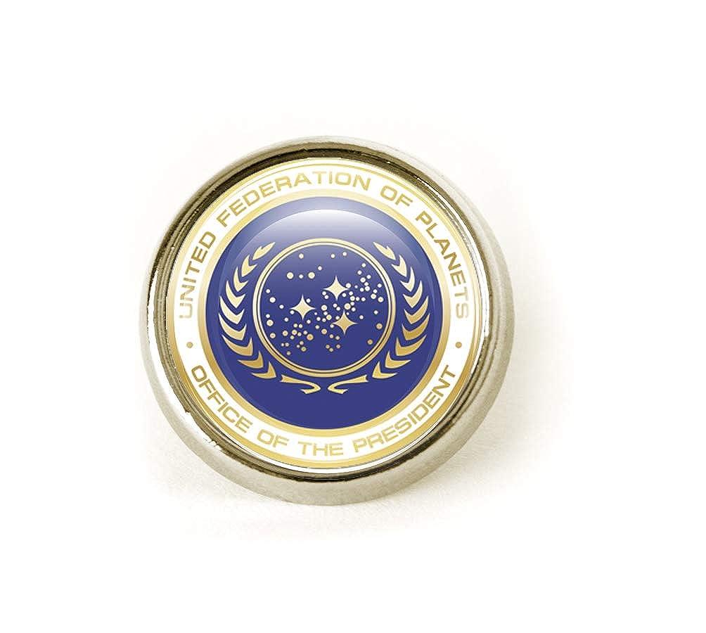 STAR TREK UNITED FEDERATION OF PLANETS METAL TIE PIN