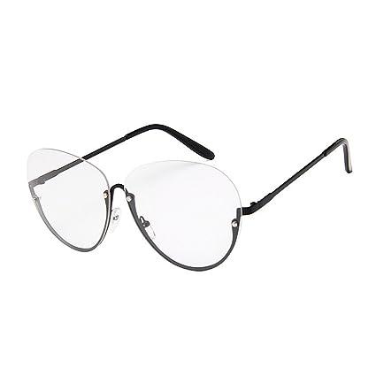 Gafas de moda Gafas de sol de mujer Estilo de ocio Semi-sin ...