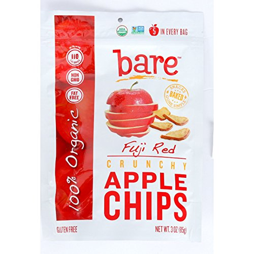 Bare Fruit Apple Chips - Organic - Crunchy - Fuji Red - 3 oz - case of 12 by Bare Fruit