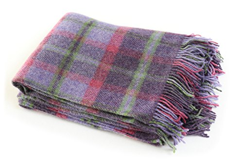 l Blanket Throw 100% Wool Soft 54