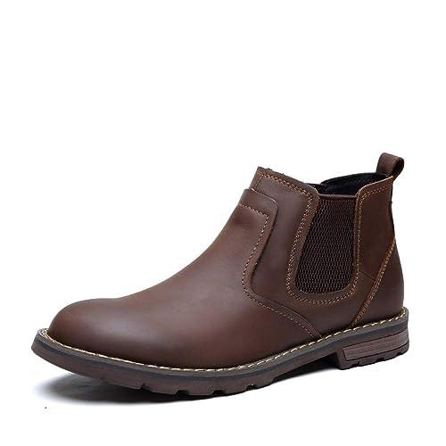 LYZGF, Hombres, Temporadas, Botines, Inglaterra, Vintage, Casual, Moda, Botas De Cuero: Amazon.es: Zapatos y complementos