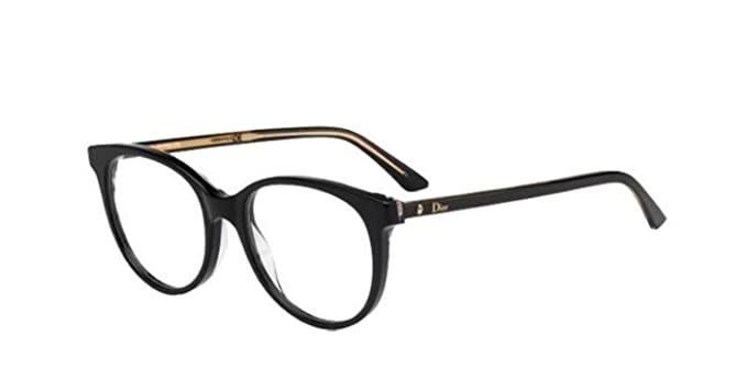 9b8df212ad4 Image Unavailable. Image not available for. Color  Authentic Christian Dior  Montaigne 16 NSI Black Crystal Eye Wear Eye Glasses