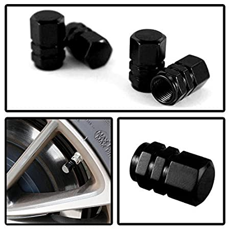 iJDMTOY Cylinder Shape 4 Tuner Racing Style Neo Chrome Aluminum Tire Valve Caps