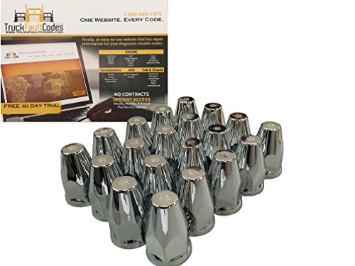 semi truck chrome lug nut covers - 6