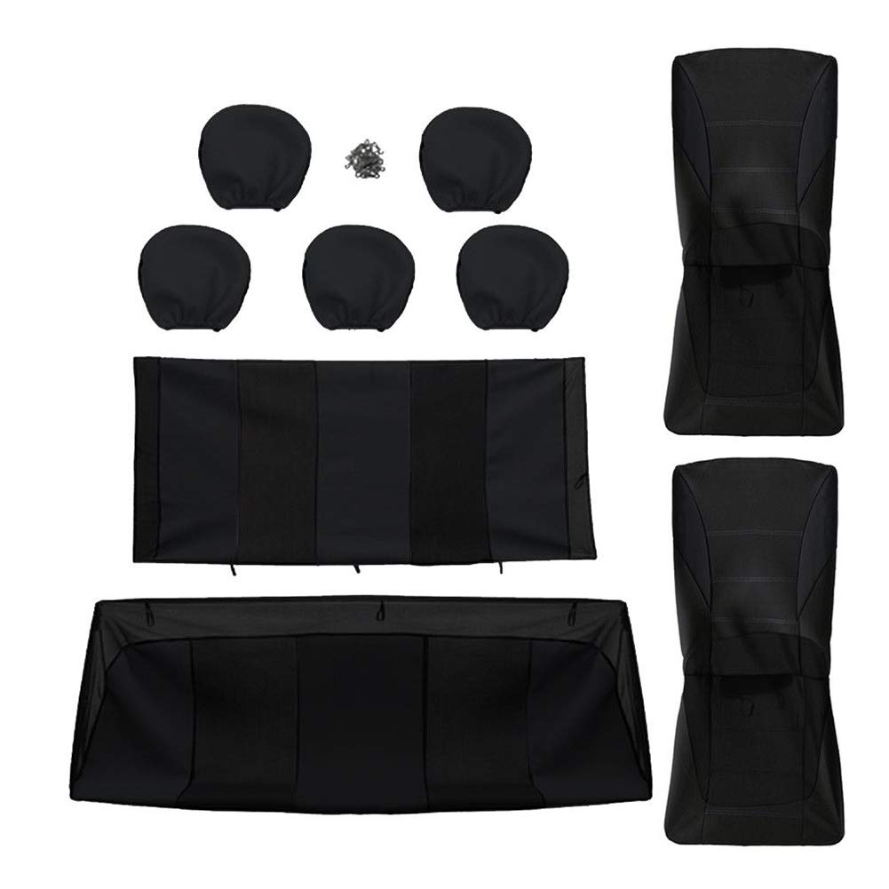Noir 9pcs YGQersh Housse de si/ège,Couvertures de Voiture universelles 5 Coussins Protecteurs int/érieurs lavables en Tissu