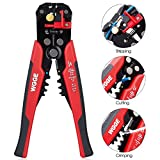WGGE WG-014 Self-Adjusting Insulation Wire Stripper. For stripping wire from AWG 10-24, Automatic Wire Stripping Tool/Cutting Pliers Tool, Automatic Strippers with Cutters & Crimper 8''