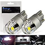 T10 w5w Car Led Bulb - Safego 168 194 501 Wedge LED Bulbs 2SMD 3030 Super Bright White For Car Interior Exterior Dome Map Door Courtesy License Plate Turn Signal Daytime Running Lights 2-year Warranty Pack of 2