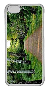 Customized iphone 5C PC Transparent Case - Tree Lined Dirt Road Personalized Cover