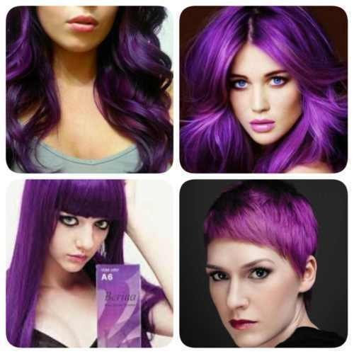 Price comparison product image New!!!BERINA PROFESSIONAL PERMANENT HAIR DYE COLOR CREAM PURPLE VIOLET # A6