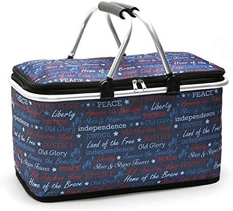 Zusammenklappbarer Picknickkorb, isolierter Picknickkorb, isolierte Picknicktasche, zusammenklappbare Büro-Reisetasche für Familienurlaub-Partys 29L