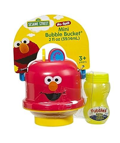 Little Kids Sesame Street Mini No-Spill Bubble Bucket Elmo Toy - Mini Bubble Bucket