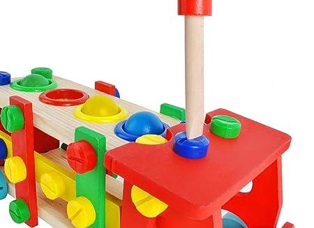 Sonstige Lkw Hammer Schrauben Spielzeug Holz Kunststoff Klopfbank Konstruktion Auto #6580 Holzspielzeug