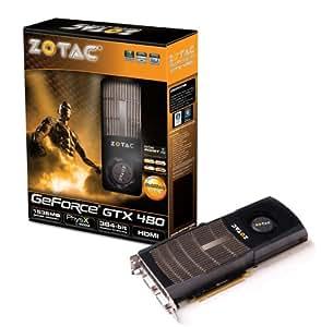 ZOTAC GeForce GTX 480 1536MB GDDR5 PCI Express 2.0 Dual DVI/mini HDMI SLI Ready Graphics Card, ZT-40101-10L