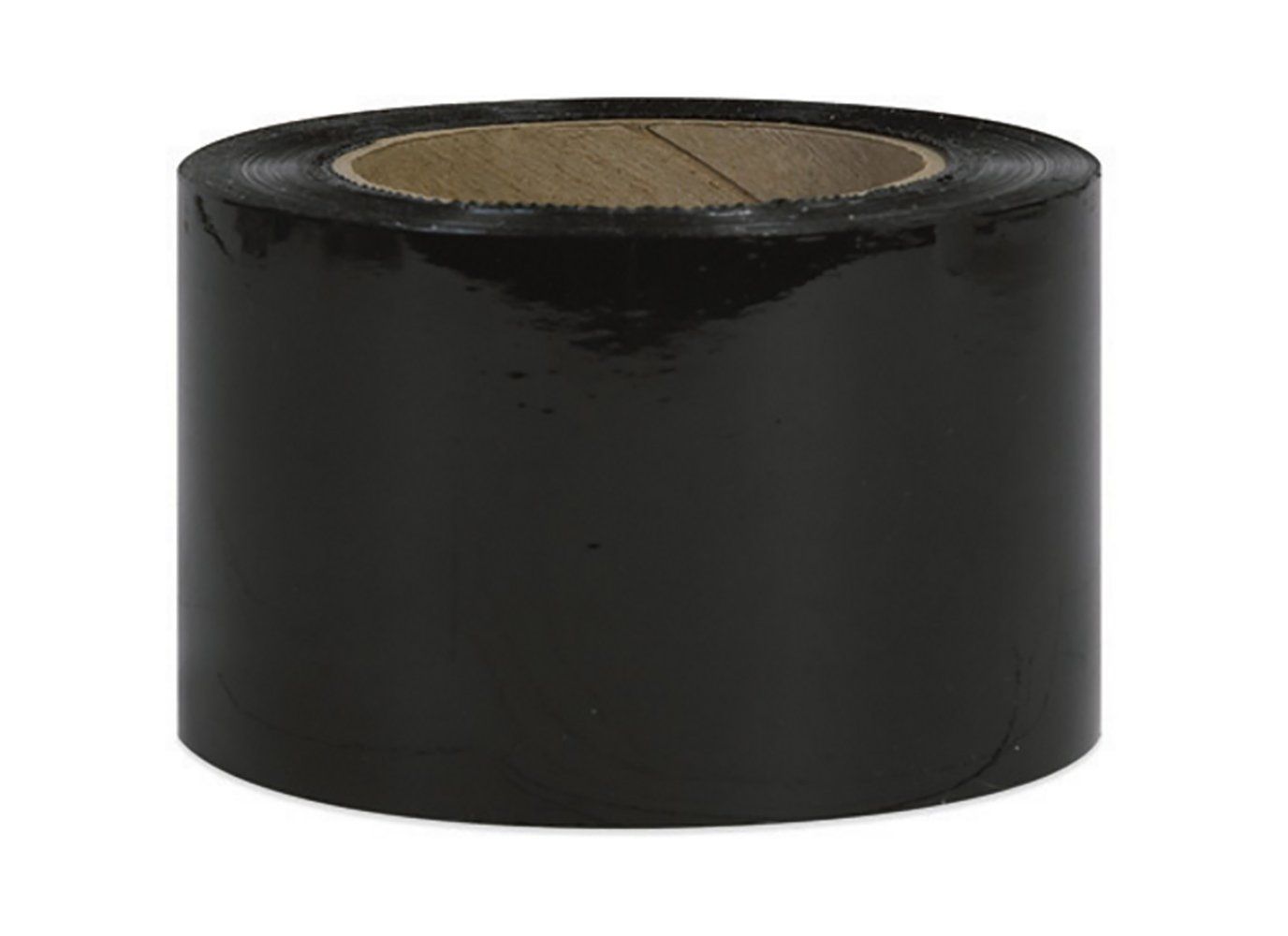 RetailSource 3'' x 80 Gauge x 1000' Black Bundling Stretch Film (2 Rolls)