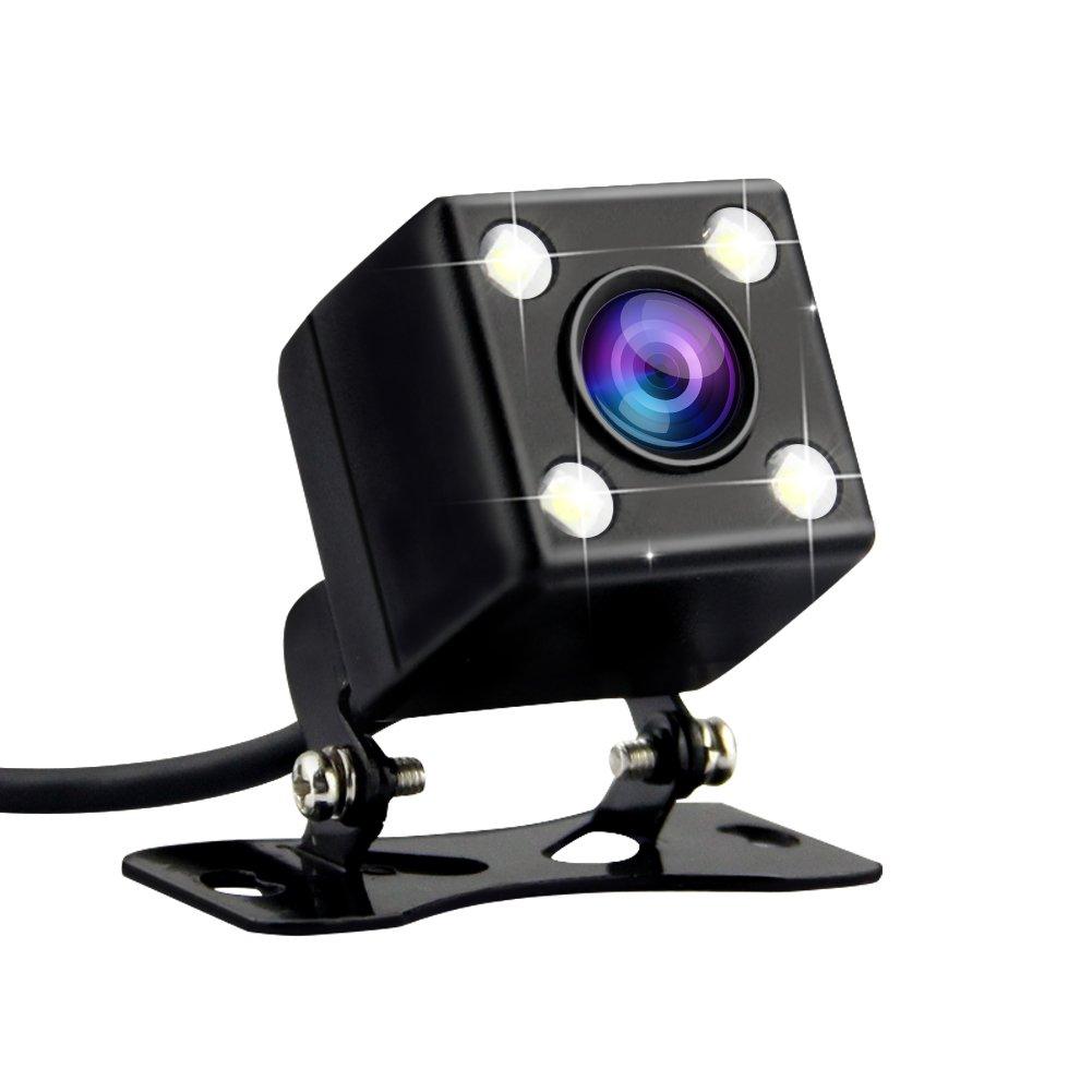 AZDOME Cámara de Visión Trasera para Coche con 120° Ángulo de Visión 640 x 480 Píxeles y 4 LED,IPX67 Impermeable, Cámara Trasera para Dashcam GS63H