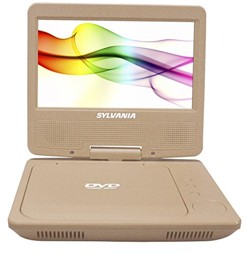 "Sylvania SDVD7027-C-Gold 7"" Portable DVD Player, Swivel Screen (Gold)"
