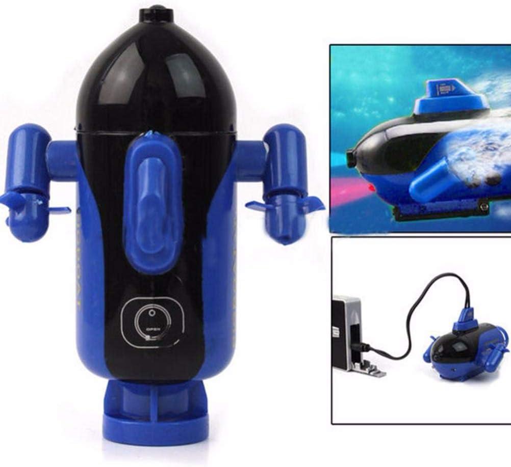Mini Submarino de Control Remoto Lago Juguete el/éctrico Submarino con 3 Luces LED para ba/ñera Piscina