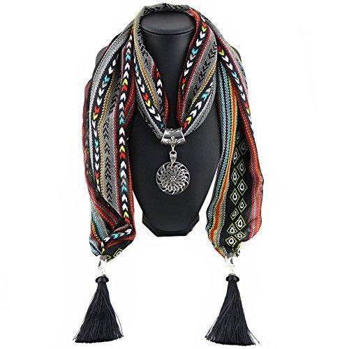Ysiop Chiffon Geometric Necklace Neckwear product image