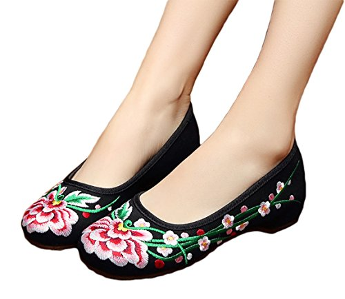 AvaCostume Flower Embroidery Rubber Casual