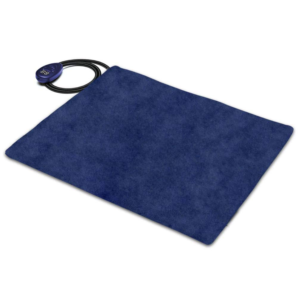 bluee-40x30cm GAOQQ Pet Heating Pad, 12V Low Voltage 7-Speed Adjustable Electric Blanket For Dogs And Cats,bluee-40x30CM