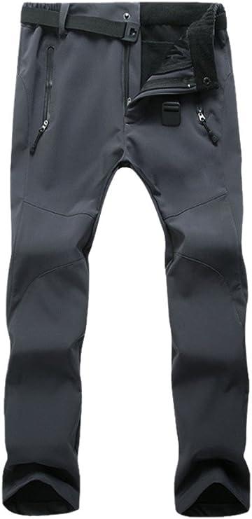Geval Pantalon Coupe-Vent imperm/éable ext/érieur Softshell Molleton Neige Ski Femmes