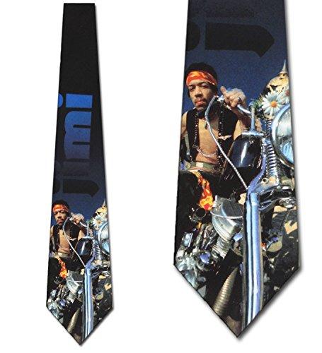 Hendrix on a chopper Ties Mens Necktie