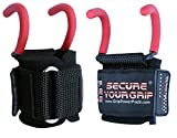 Best Weight Lifting Rod Hooks Heavy Duty Wrist Wraps Power Weight Lifting Training Gym Grips Straps Set of 2 (RED, WOMEN-Wrist Size Small/Medium) Review