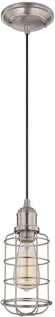 Savoy House Lighting 7-4133-1-SN Casual Lifestyles 1 Light Mini-Pendant, Satin Nickel Finish