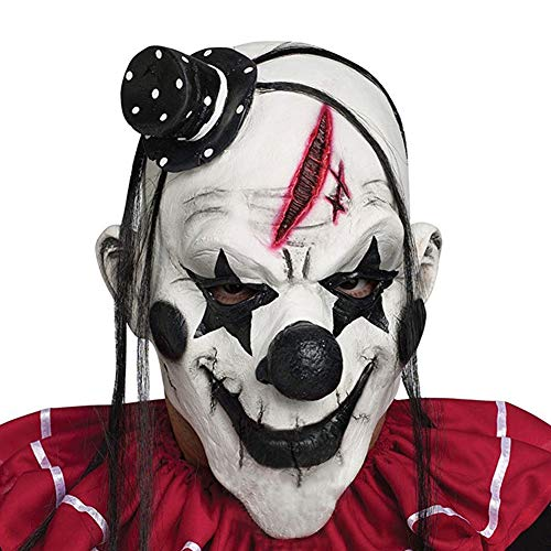Wiliboat Halloween Horrific Demon Adult Scary Clown Cosplay Props Devil Flame Zombie Mask -