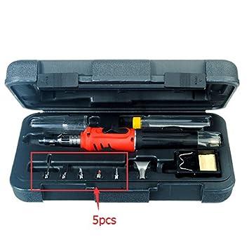 Doradus 5pcs puntas de repuesto para HS-1115 K 10 en 1 soldador a gas cordless Soplete: Amazon.es: Electrónica