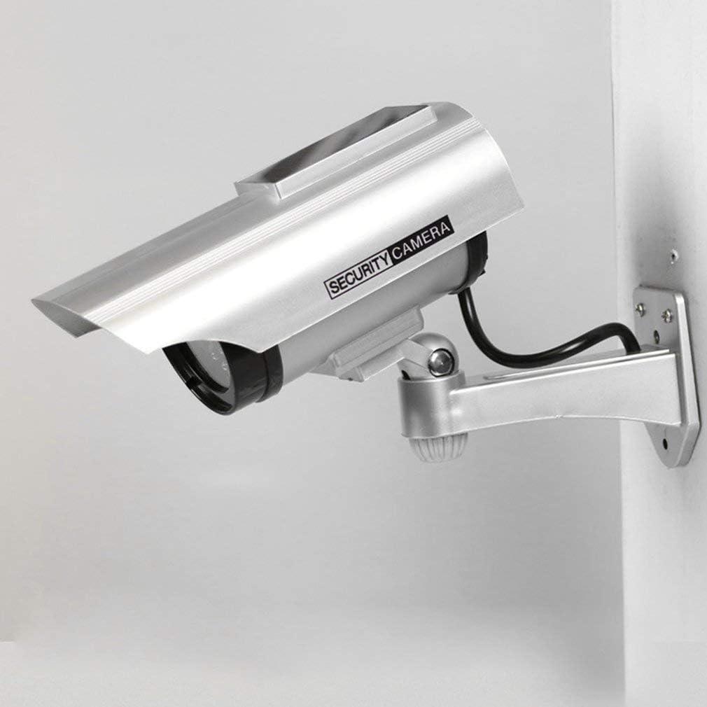 YZ-3302 Dummy Powered CCTV Surveillance Surveillance Faux Cam/éra /Étanche Faux Clignotant Rouge LED Lumi/ère Vid/éo Anti-vol Cam/éra