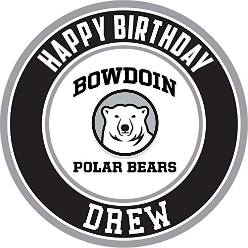 (Bowdoin Polar Bears Edible Cake Topper Personalized Birthday 8