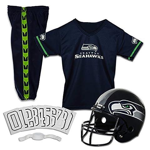 Franklin Sports NFL Seattle Seahawks Deluxe Youth Uniform Set, Medium (Nfl Helmets Kids)
