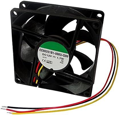 AERZETIX: Ventilador para PC Ordenador de sobremesa 12V 80x80x25mm ...